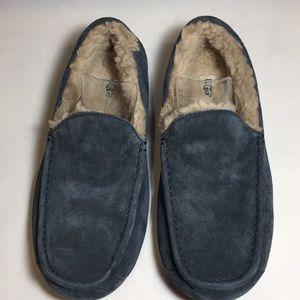 UGG Australia's Navy Ascot Slippers Men's READ
